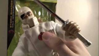 GI Joe Rise of Cobra Movie Talking Storm Shadow 12 Inch Action Figure Toy Review view on youtube.com tube online.