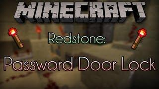 Minecraft Redstone: Written Password Protected Door Lock