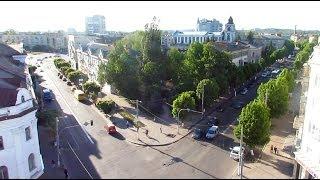 Центр Житомира с высоты: Театральная, Бердичевская, Соборная, Победы