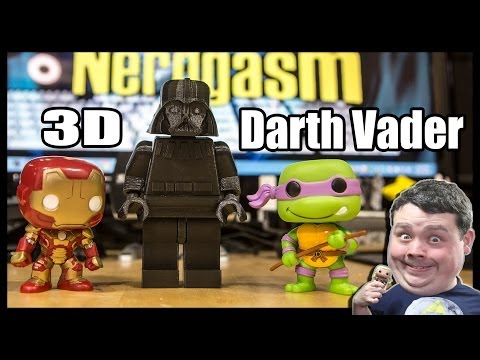 3D Printing LEGO Like Star Wars Darth Vader Action Figure : Ultimaker v2 w/ PLA