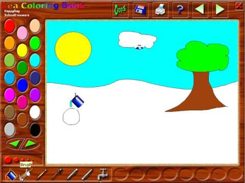 Kea Coloring Book Tutorial - Free Software for Kids