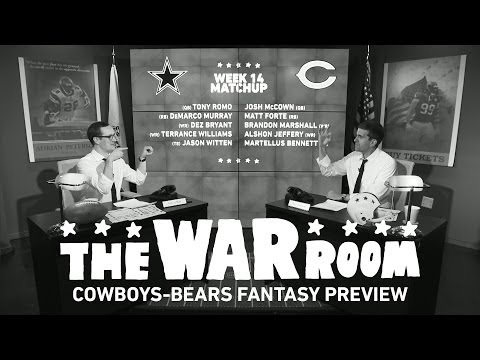 Cowboys vs Bears Monday Night Football Fantasy Preview - The War Room