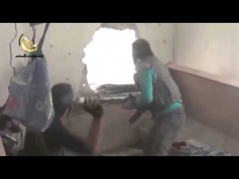 Raw: Rebels, Syrian Forces Clash in Damascus  10/10/13