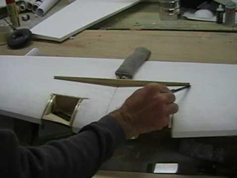 Sheeting a foam wing part 1