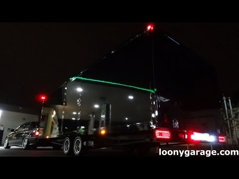 Custom Car Transporter LED Lights Install