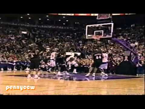 Allen Iverson Highlight vs. Vince Carter the Raptors 01/02 NBA (25.11.2001) *3 alley-oops by VC