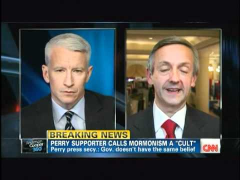 CNN's Anderson Cooper quizzes Pastor Robert Jeffress, &quot;Mitt Romney - Mormonism a Cult?&quot;