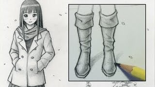 How to Draw Boots [Narrated Step,by,Step] , YouTube
