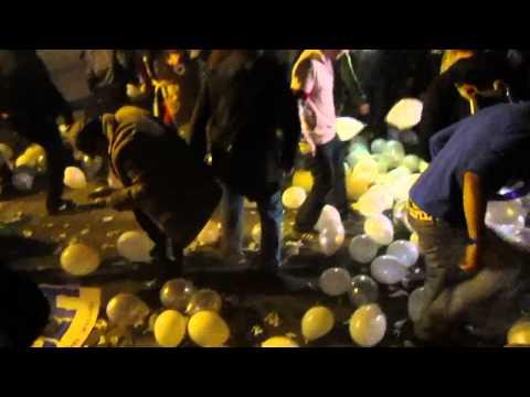 De ziua jandarmeriei, au protestat cu baloane