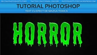 Tutoriale - Photoshop- Text Gelatinos Horror | Halloween