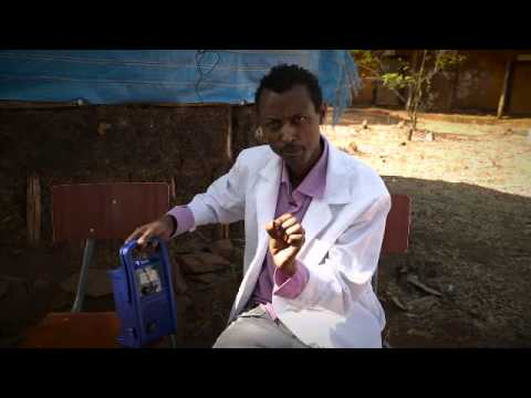 Ethiopian Students Learn English using solar powered Mp3 players