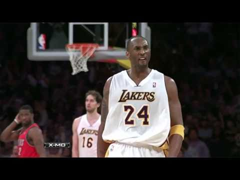 Kobe Bryant fired up after hitting Clutch shot vs Trail Blazers