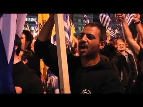 Ameaça Neo-Nazi na Grécia - Comício Fascista