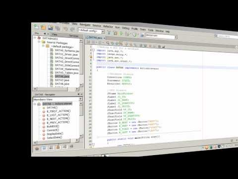Java - JDBC Databases - GUI and SQL Statements - 3 of 3