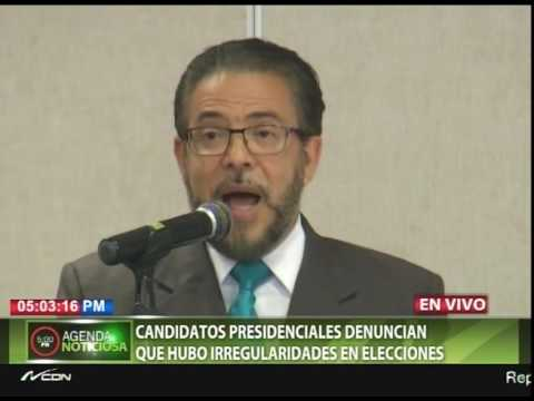 Candidatos presidenciales denuncian que hubo irregularidades en elecciones