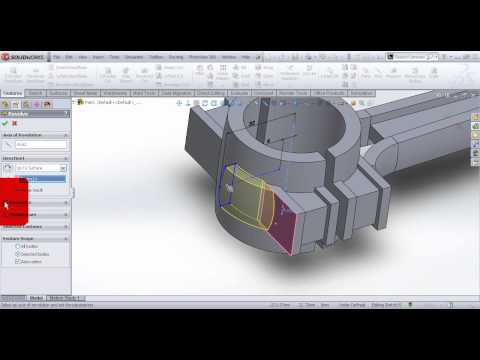 Video Tutorial on Modeling Connecting Rod of Gasoline Engine in SolidWorks Part 1