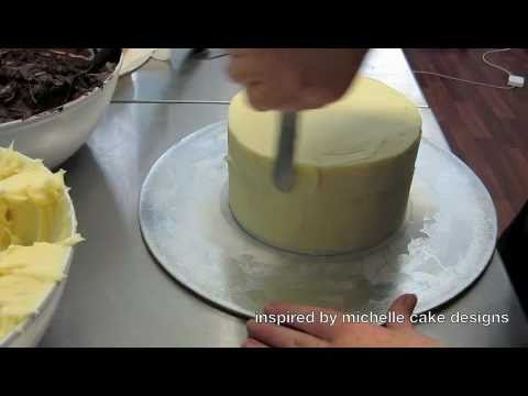 how to ganache a cake with straight sides Part 2 of 3 Inspired by Michelle Cake Designs
