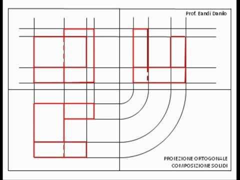 Proiezione ortogonale composizione di solidi 1