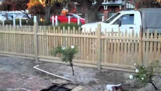 How To Build A Picket Fence Gate Video
