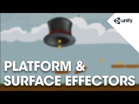Unity 5 - 2D Physics: Surface Effector 2D and Platform Effector 2D