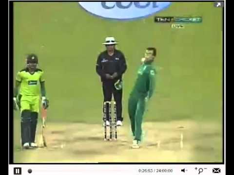 Shahid Afridi SIX ON HIS FIRST BALL BOOM BOOM!!!! PAK vs RSA 1st T20