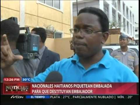 Haitianos piden destitución del embajador haitiano…