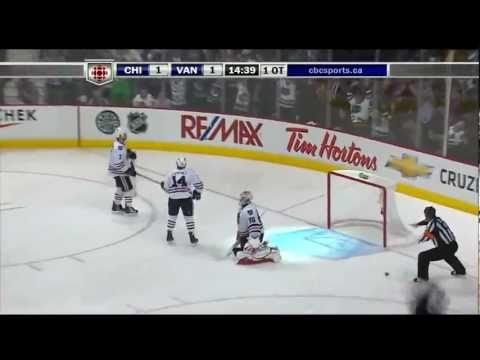 Alex Burrows OT Goal Vs. Chicago - 2011 Playoffs - HD