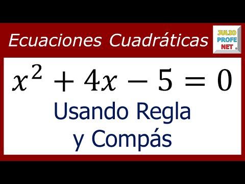 Uso de regla y compas para resolver una ecuacion de segundo grado