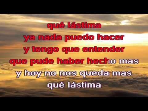 Alejandro Fernandez - Que Lástima - KARAOKE HD Buen Sonido Letra