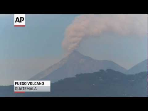 Raw Video: Volcano Erupts in Guatemala