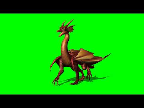 Dragon walk - greenscreen effects