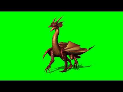 Dragon walk - greenscreen effects