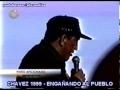 CHAVEZ EN 1999 ENGAÑANDO CON VIVIENDAS Y TRABAJO - PUERTO ORDAZ VENEZUELA