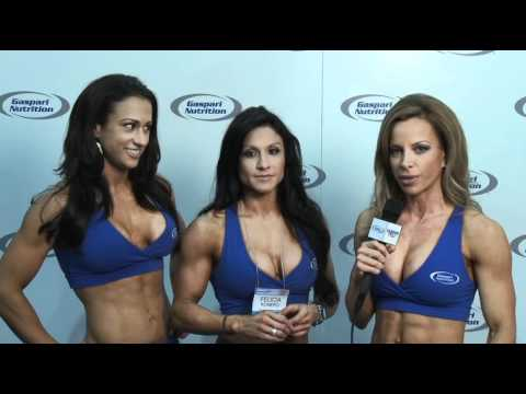 Ava Cowan, Courtney West, &amp; Felicia Romero Gaspari TV 2011 Arnold Classic Interview