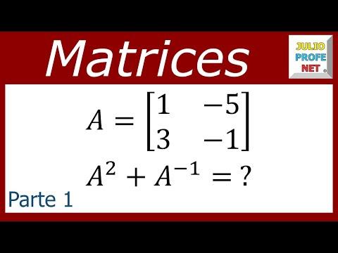 Suma del cuadrado de una matriz y su inversa (parte 1 de 2)