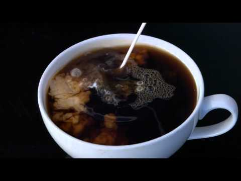 Coffee and Creamer high speed video 1000 fps 30 fps playback