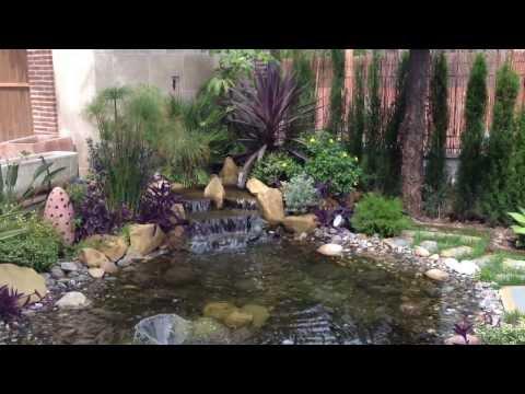 Estanque y cascada de piedra myd jardines for Cascadas en piedra para jardines