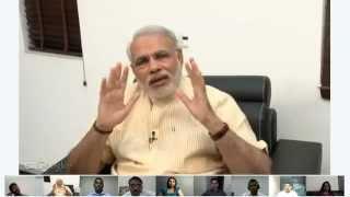 Narendra Modi G+ Hangout