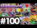 WORLD'S BEST Slither.io Moments! | Slither.io BEST Bits..!!!! | (Episode 100)