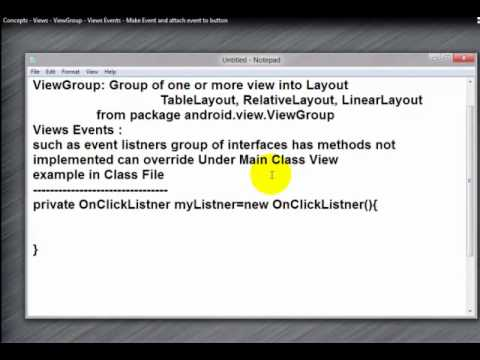 10-Concepts – Views – ViewGroup – Views Events – Make Event and attach event to button
