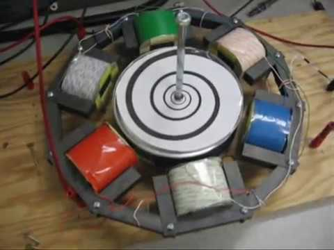 Three phase AC induction motor demonstration