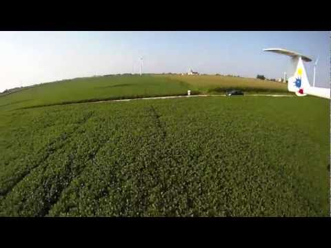 Incredible Wind Turbine Flying Views - RC Airplane GoPro Hero HD - FPV