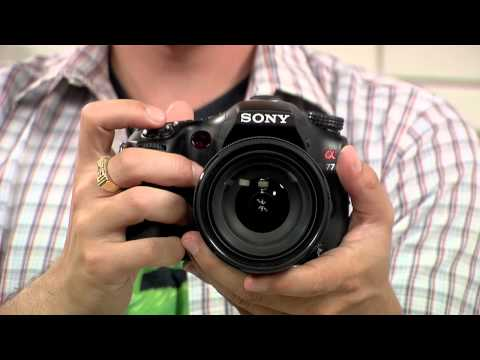 Sneak Peek! New Sony a77 DSLR Camera & Kit Lens