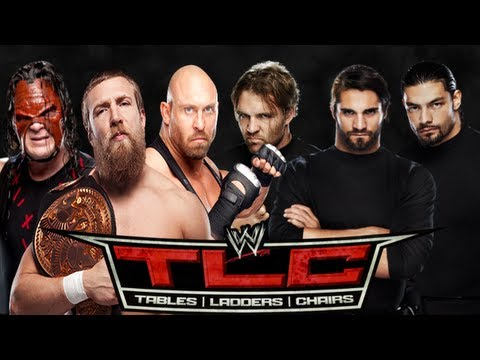 WWE TLC 2012 Team Hell No & Ryback vs The Shield TLC Match Part 1 (WWE 13 Prediction Game)