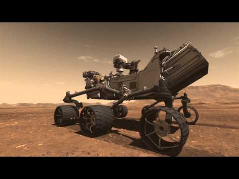 Mars Science Laboratory Curiosity Rover Animation