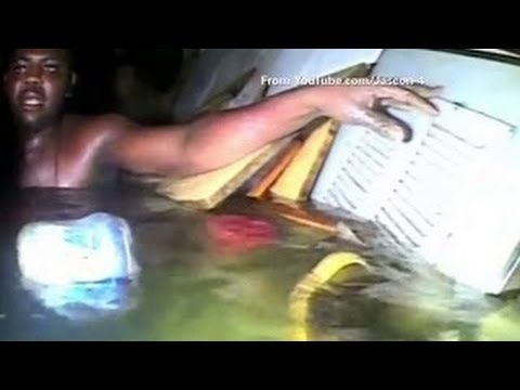 Underwater Air Pocket Rescue Man Trapped For 3 Days