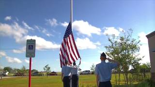 Raising the Flag for the 1st time on Fire House 2
