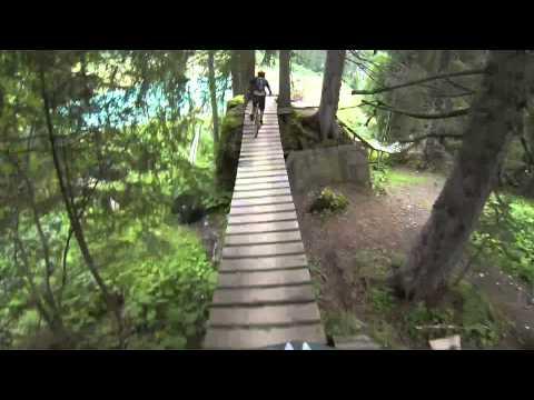 Morzine Downhill Mountain Biking 2013 (Crash) - GoPro Headcam