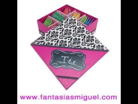 C mo hacer una caja decorada para bolsitas de t - Como hacer una caja para te ...