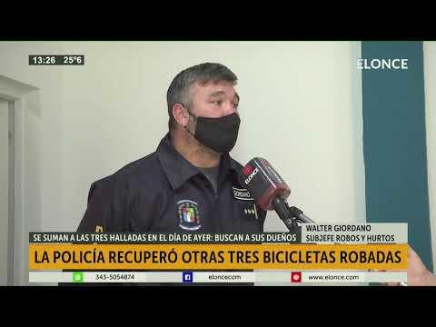 Recuperaron tres bicicletas que habían sido robadas y adulteradas